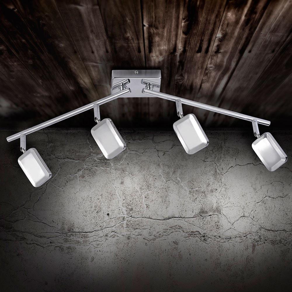 Wella LED Deckenleuchte schwenkbar 4x 4,20W 3000K Chrom 1