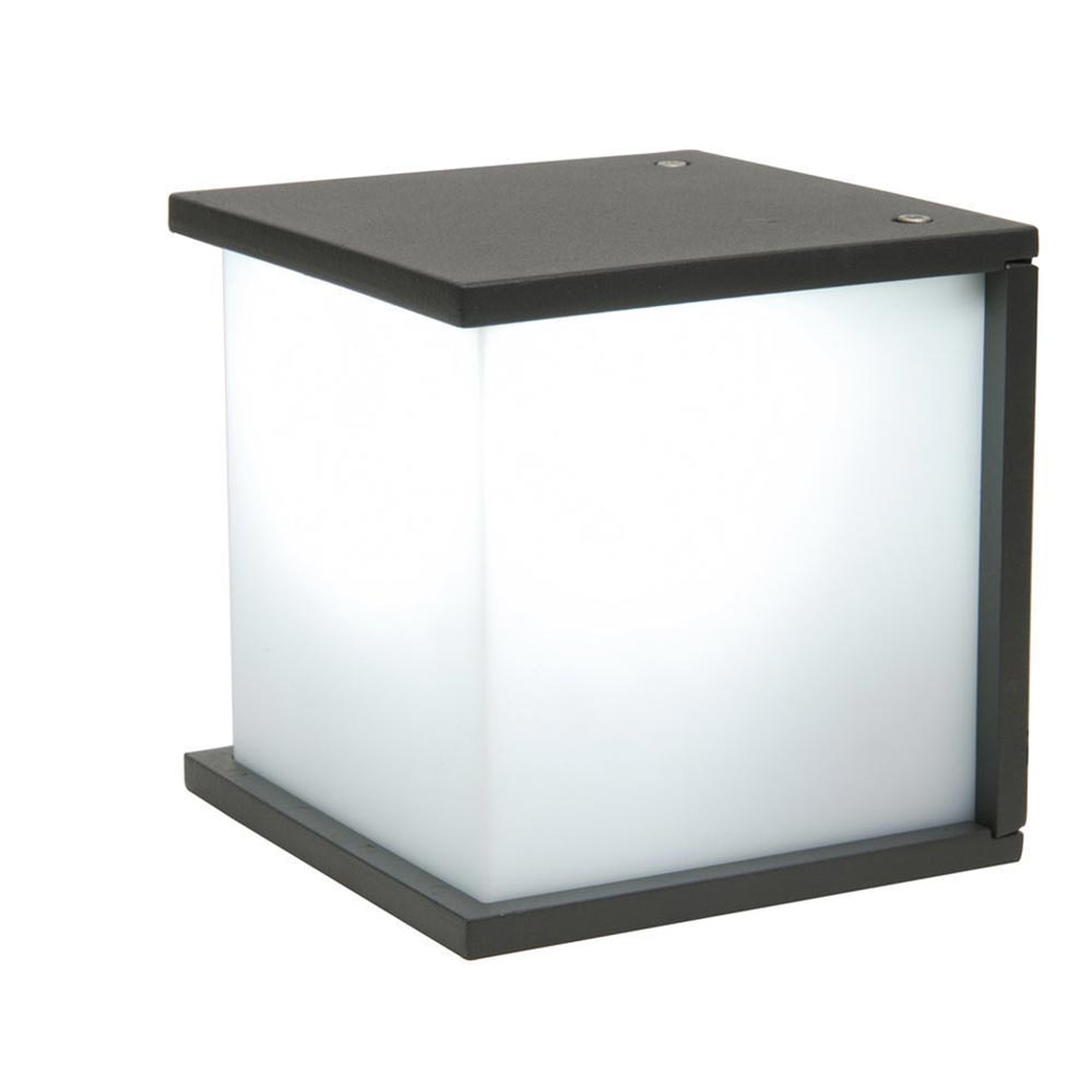 Lutec Aussen-Wandleuchte Box Cube IP54 Anthrazit 2