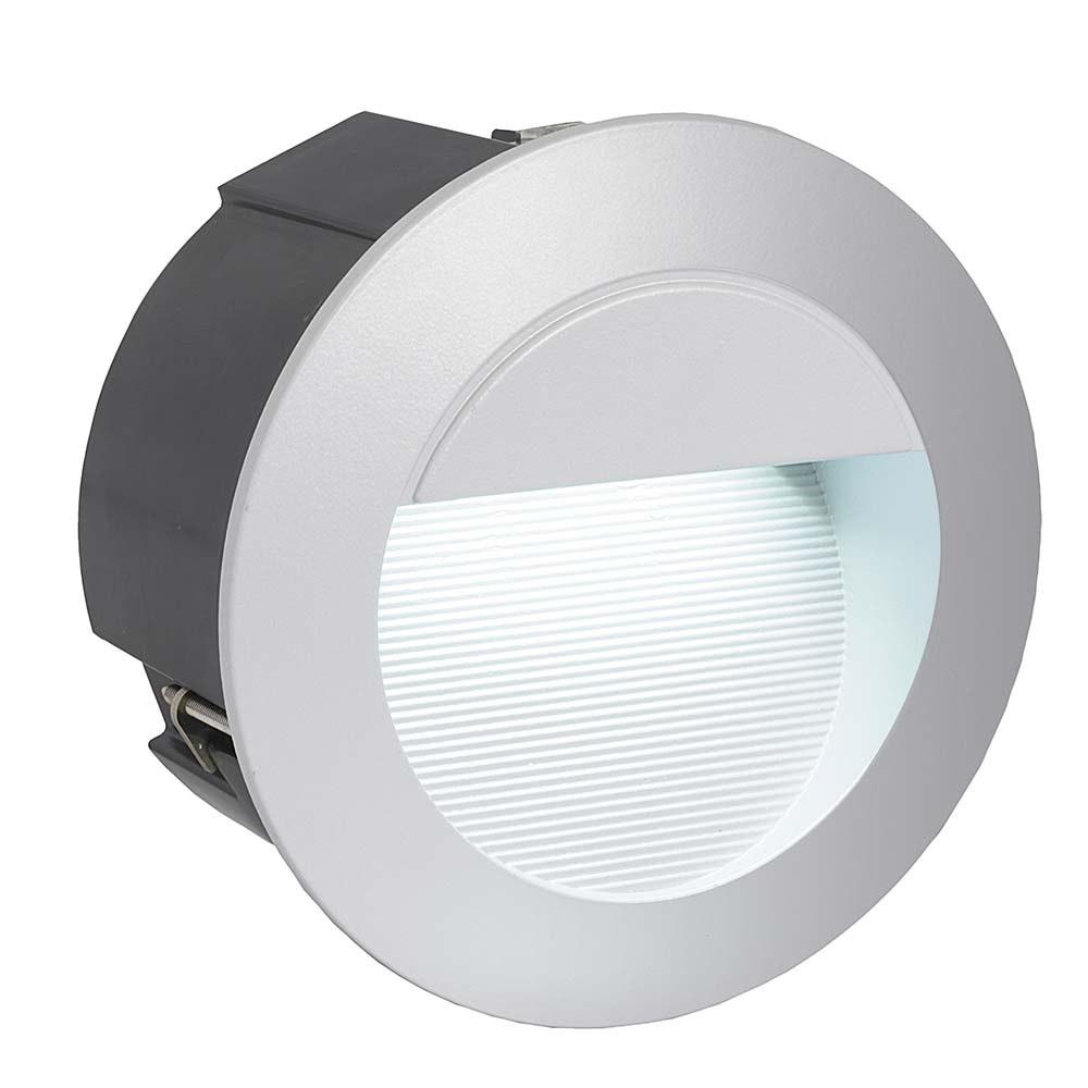Zimba LED Aussen-Wandeinbauleuchte 320lm Silberfarben 2