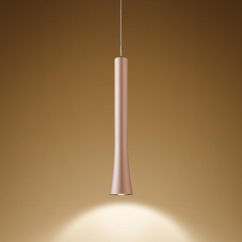 Oligo LED Pendel mit unsichtbarer Höhenverstellung Rio Satin-Kupfer