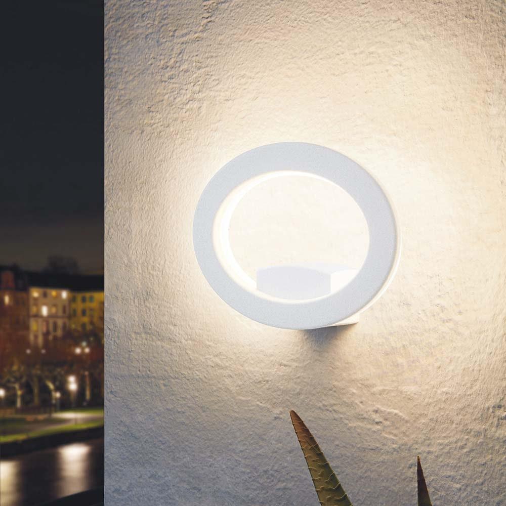 LED Aussenwandlampe Emollio Weiß 1