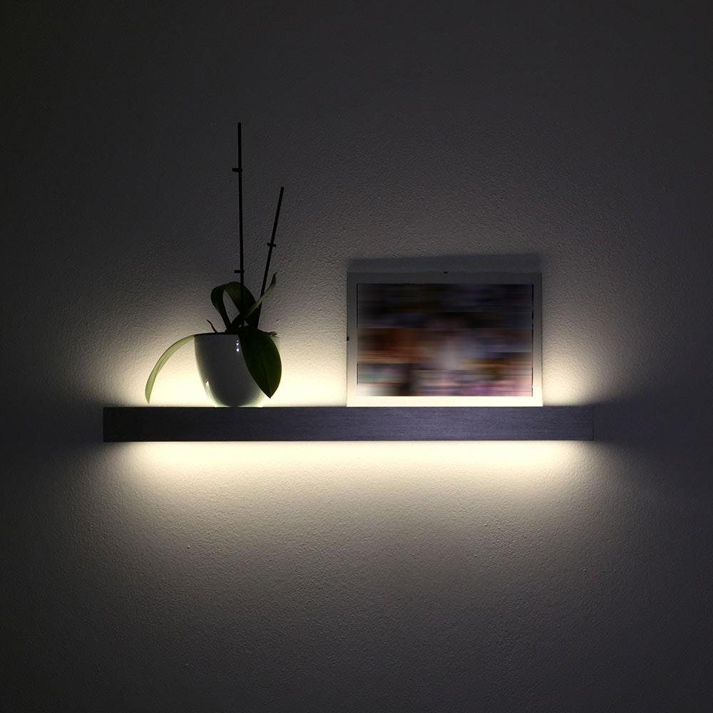 s.LUCE Cusa LED-Lichtboard 70cm Wandleuchte Up&Down Alu-gebürstet 4