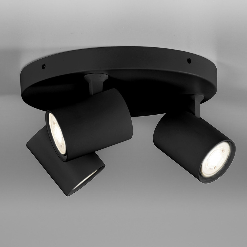 Licht-Trend Wand- und Deckenlampe Cup GU10 Schwarz 6