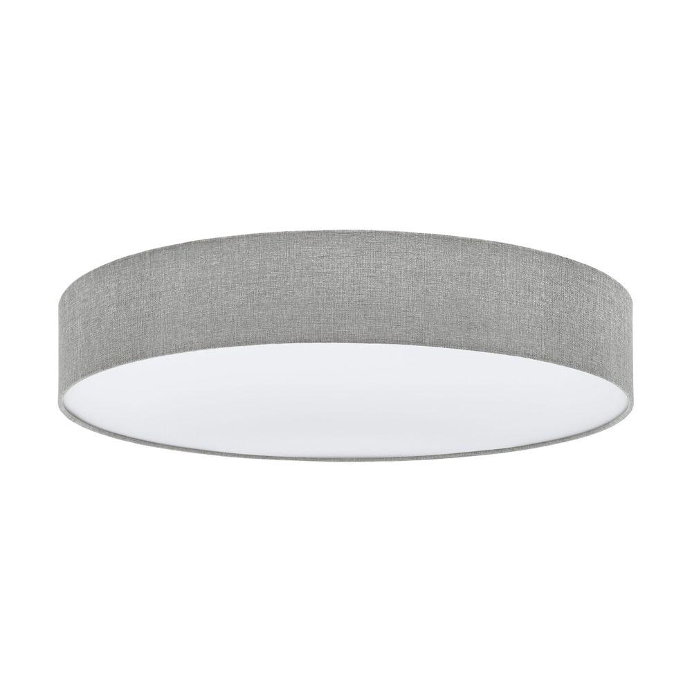 XL Stoff Deckenleuchte Pasteri Ø 76cm Grau, Weiß