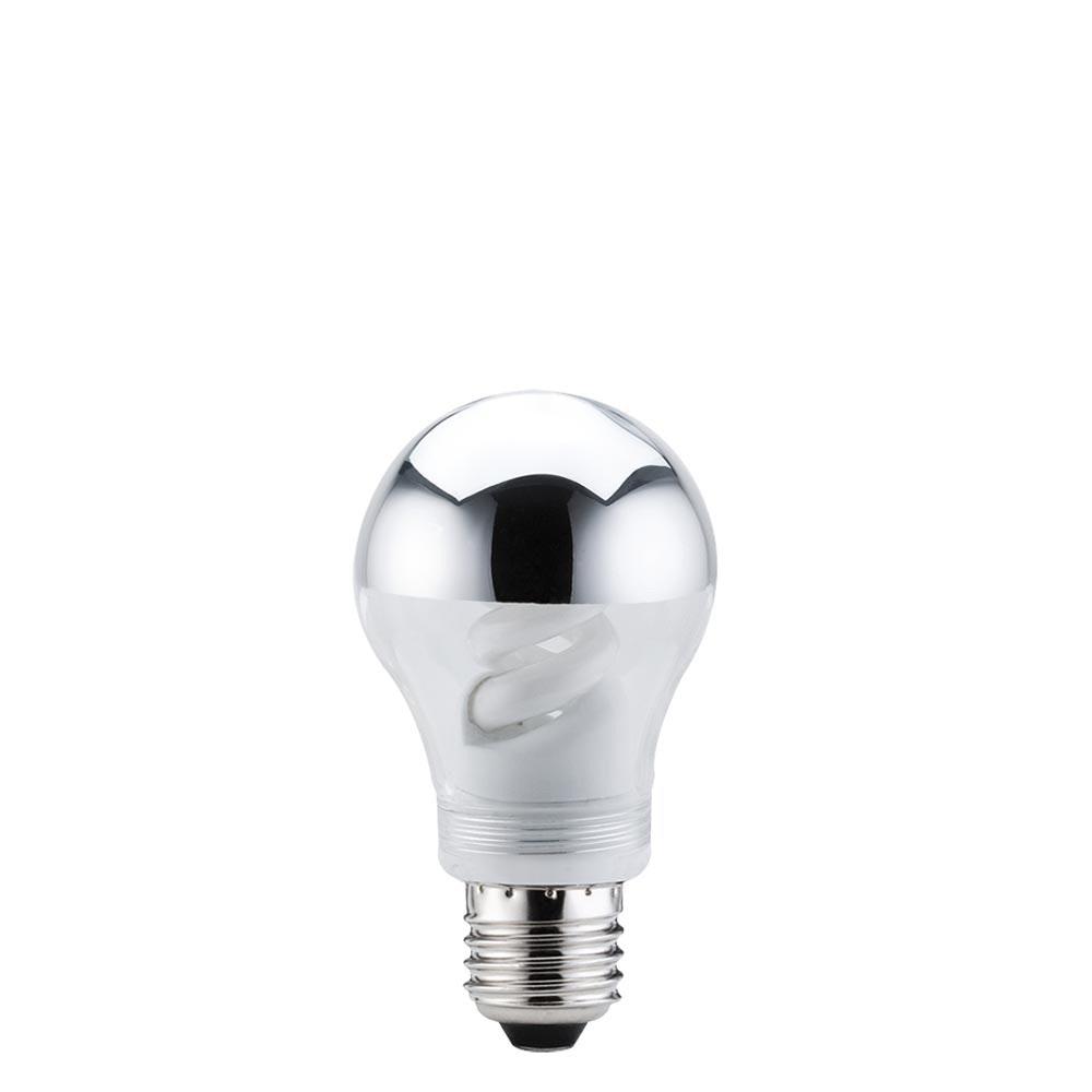 Energiesparlampe AGL 9W E27 Kopfspiegel Silber