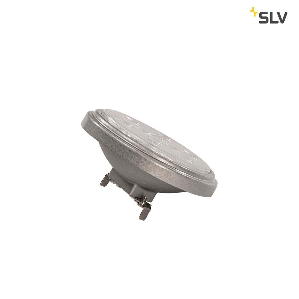 SLV LED QR111 G53 Leuchtmittel 13° Silbergrau 2700K 800lm 2