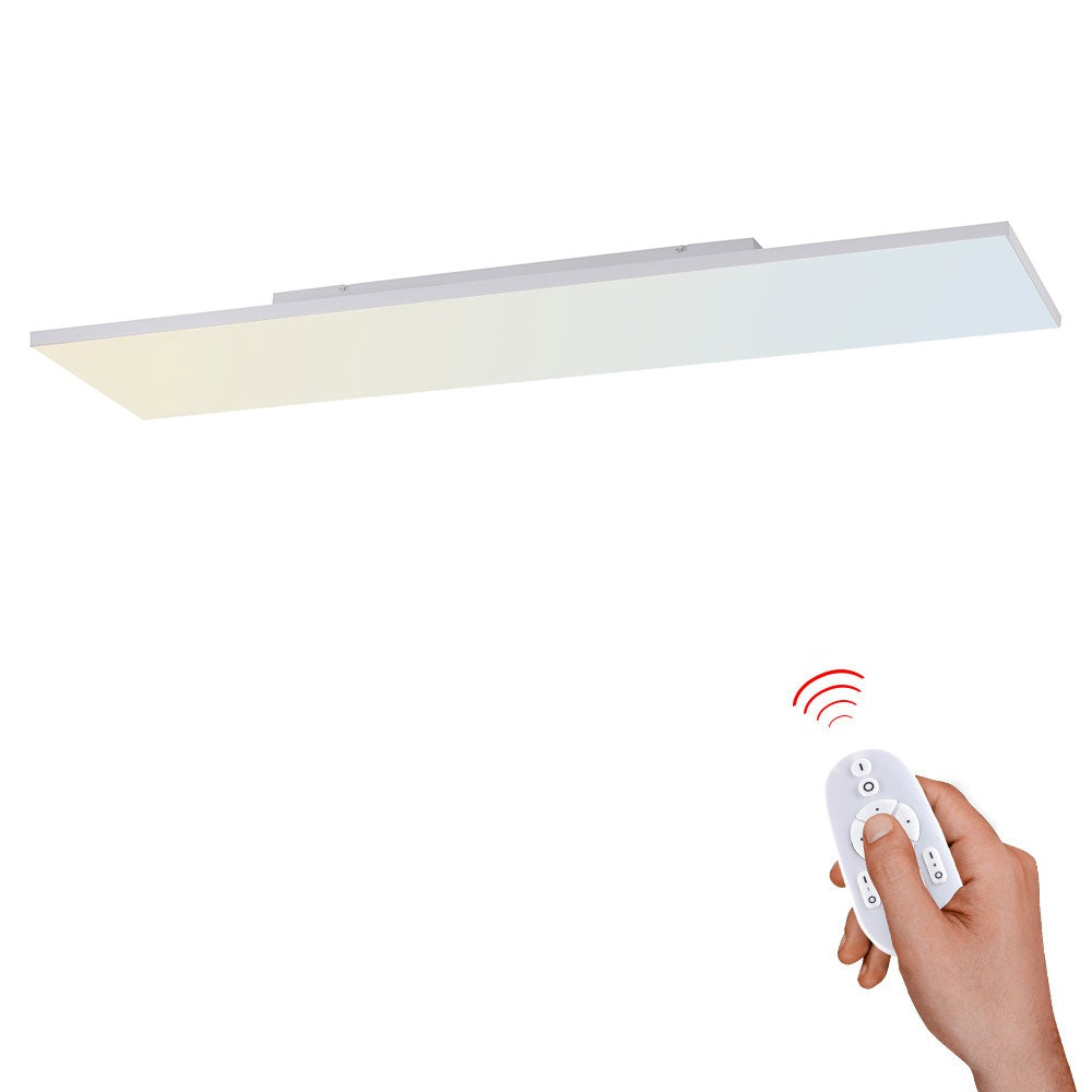 Q-Flat 2.0 rahmenloses LED Deckenlampe 100 x 10cm CCT + FB Weiß 1