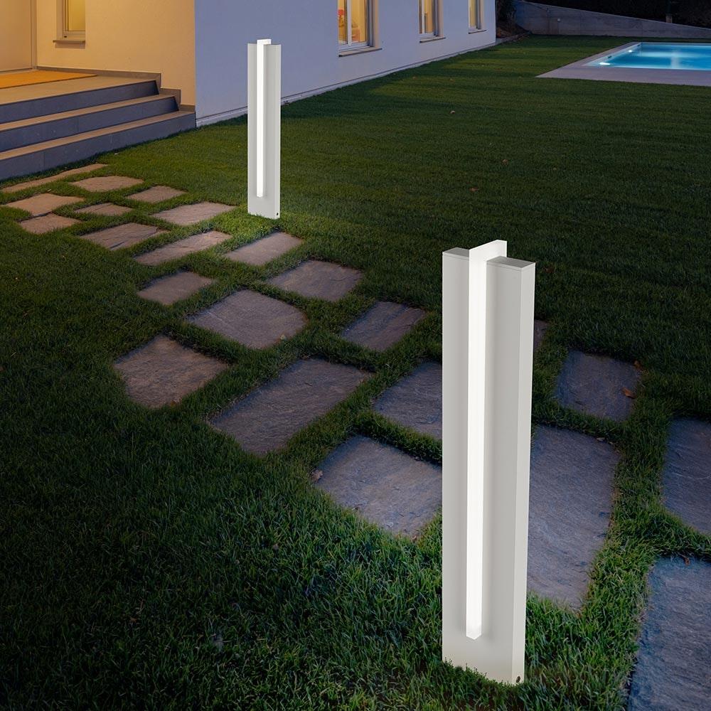 Helestra LED Außenstandlampe Oki IP54 2805lm Mattweiß 2