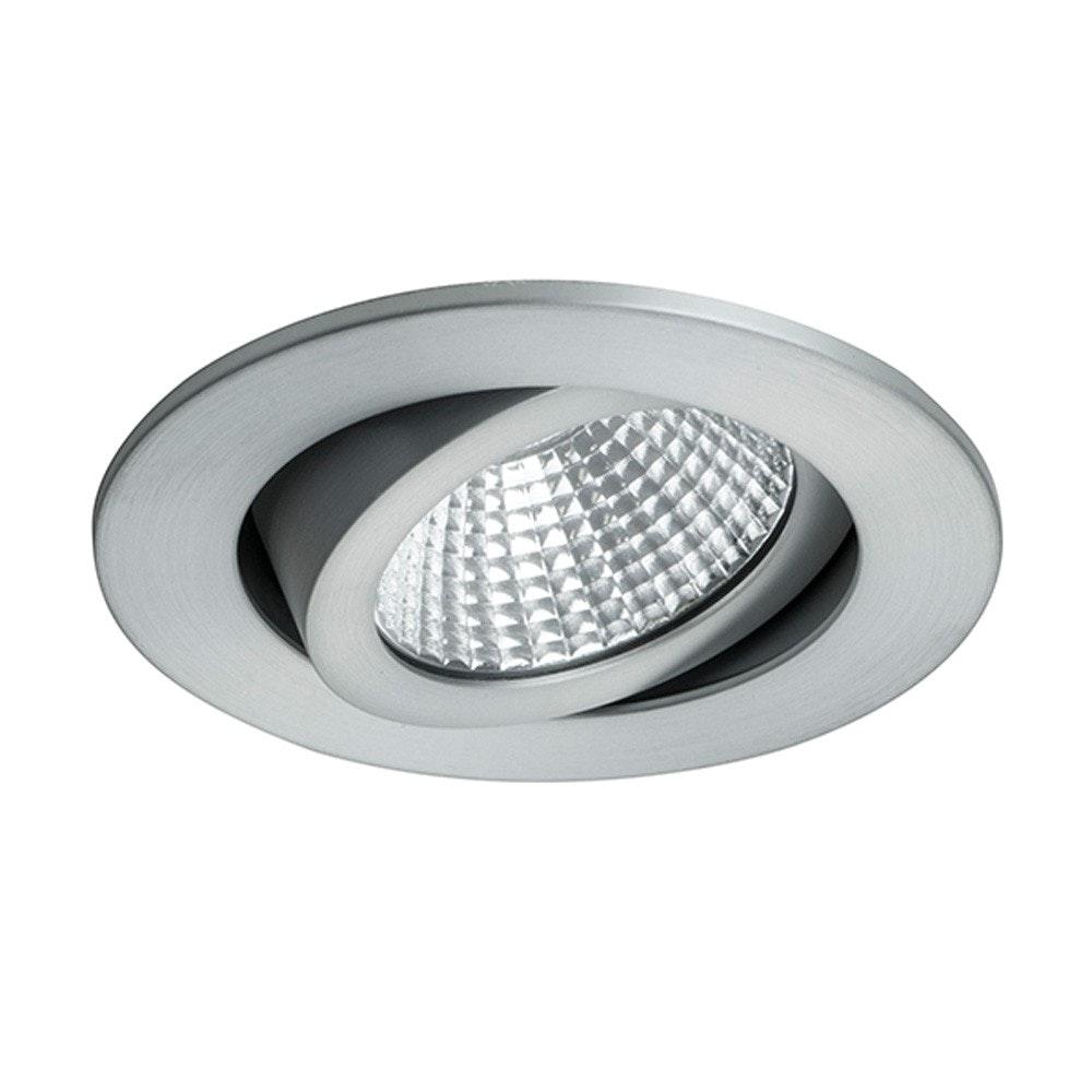 Brumberg LED-Einbaustrahler rund dim2warm & schwenkbar Alu-Matt 1