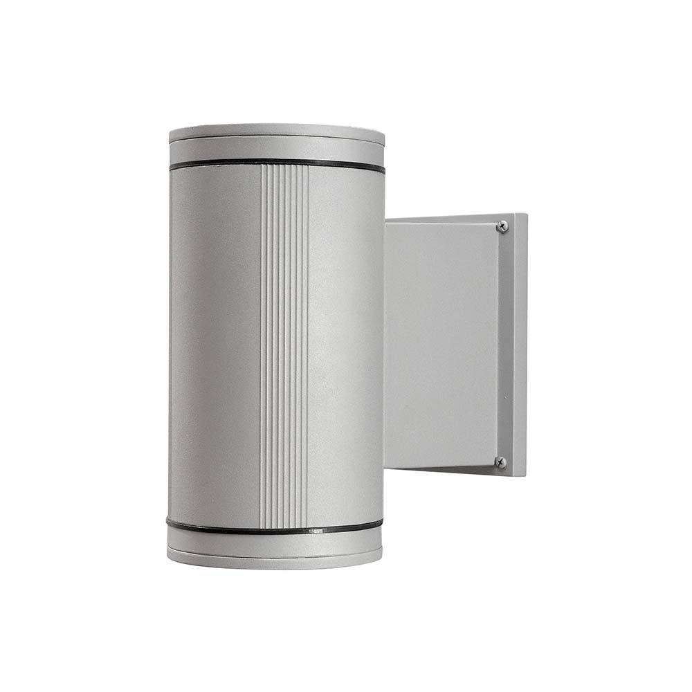 Siracusa Aussen-Wandleuchte mit Halogen Leuchtmittel Grau, klares Glas, Reflektor 3