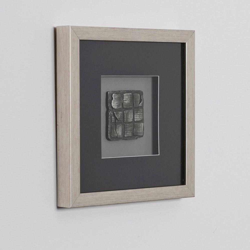 Wandbild Risultato 1 Holz-Glas-Kunststein Silber-Schwarz 2