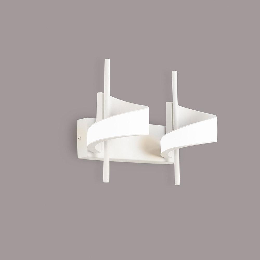 Mantra Doppel-LED-Wandleuchte Tsunami Weiß 2