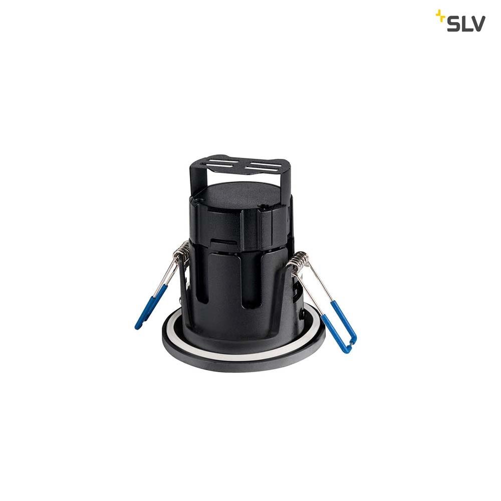SLV Kamuela LED Fire-Rated Deckeneinbauleuchte Schwarz 4000K IP65 2