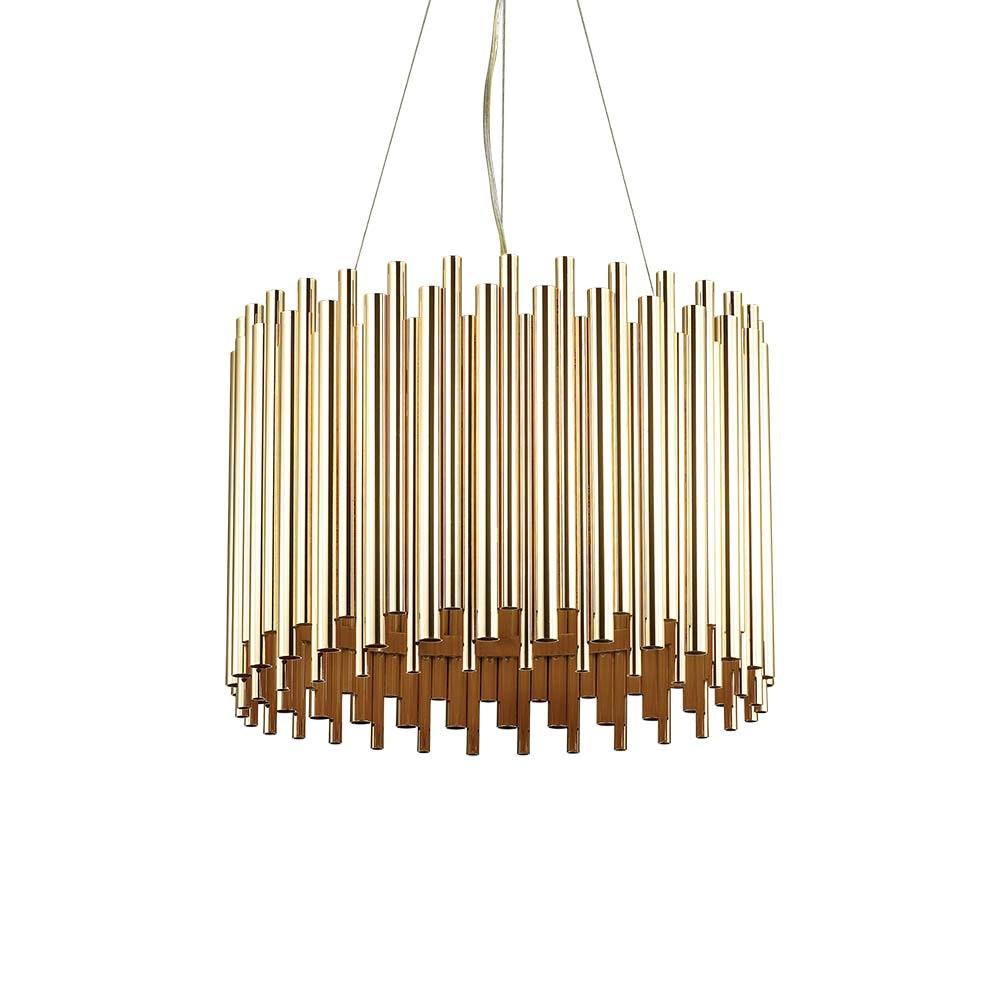Ideal Lux Pendelleuchte Pan 5-flg. Goldfarben, Klar 2