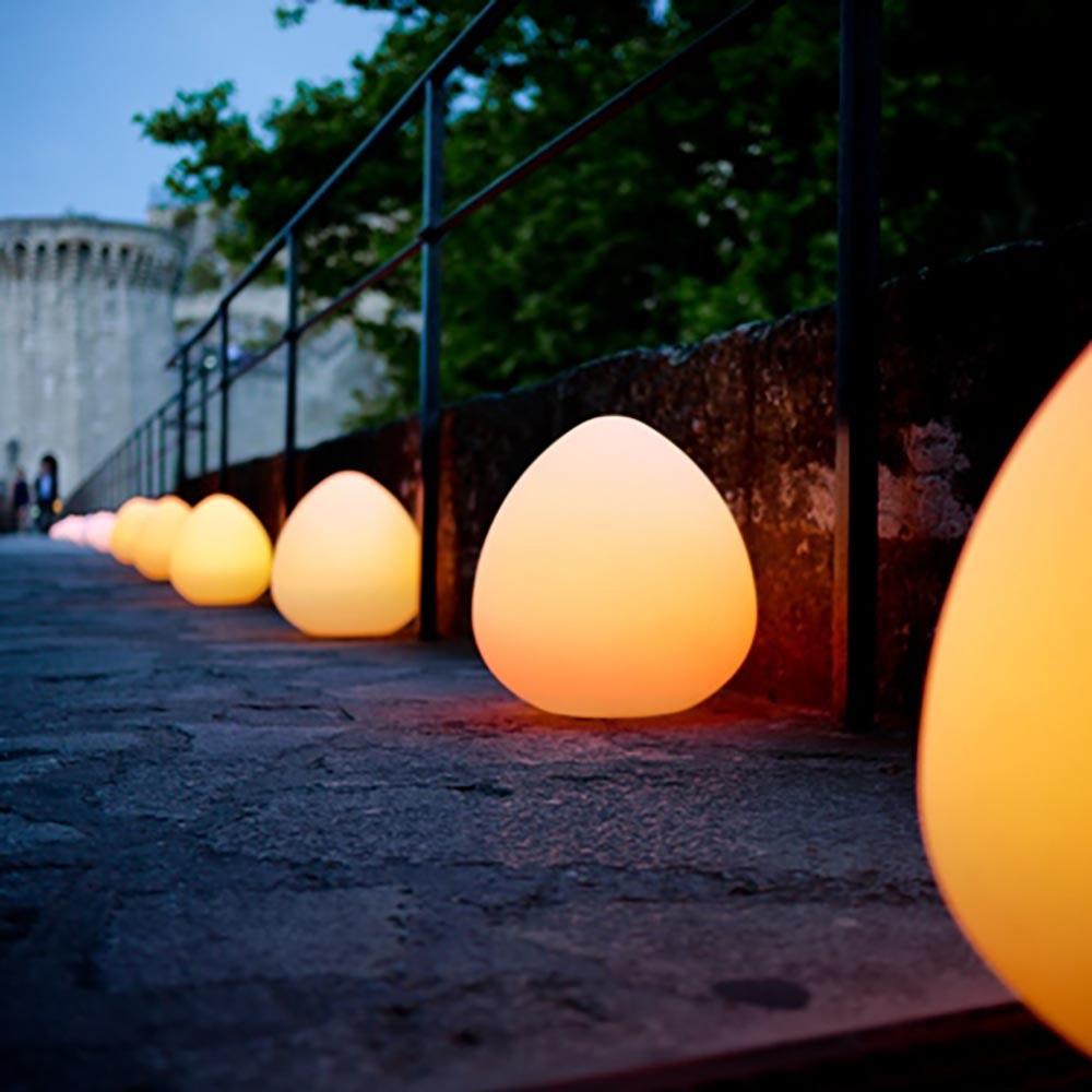 Bruchfeste LED-Akkulampe Stone mit App-Steuerung thumbnail 3