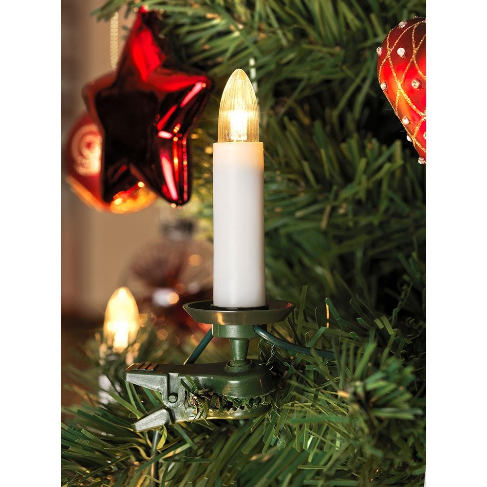 LED Baumkette Topbirnen teilbarer Stecker 16 Warmweiße Dioden 2