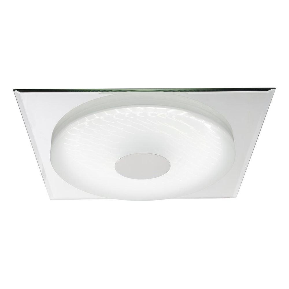 Treviso I Deckenleuchte LED quadratisch, 3D-Effektfolie, 3000K-4500K-6000K, dimmbar 2000lm 6