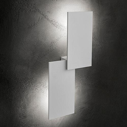 Lodes Puzzle Outdoor Double Rectangle LED Wandleuchte