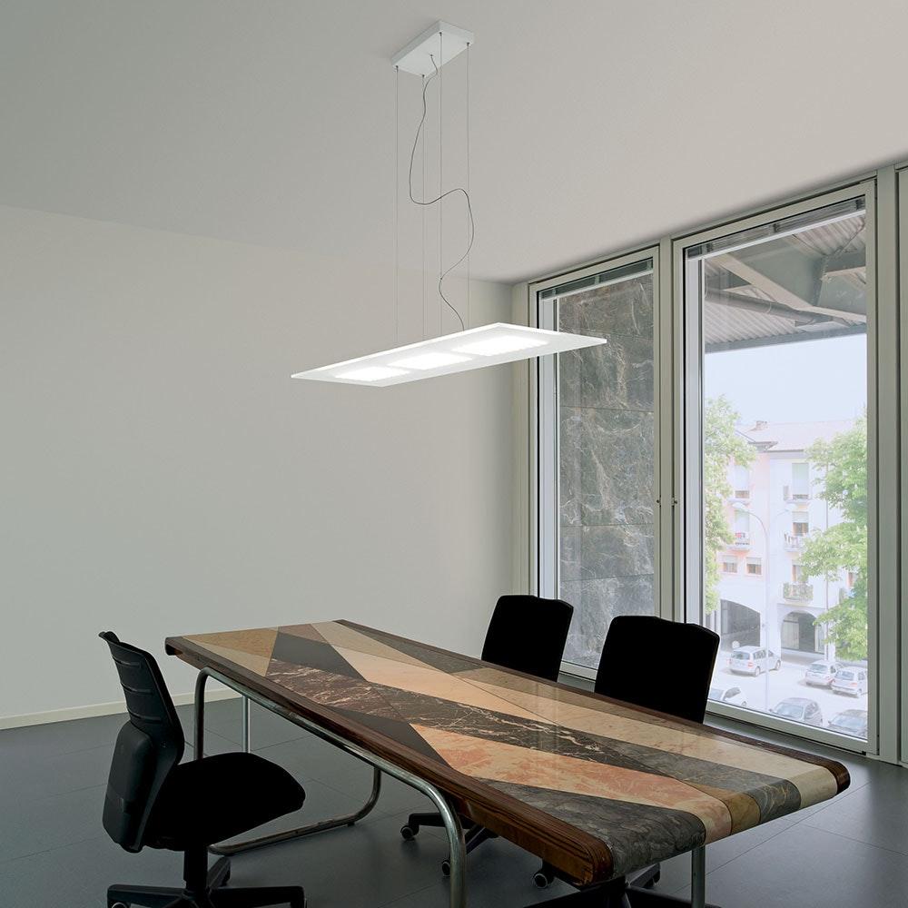 Linealight Dublight P LED-Pendelleuchte rechteckig