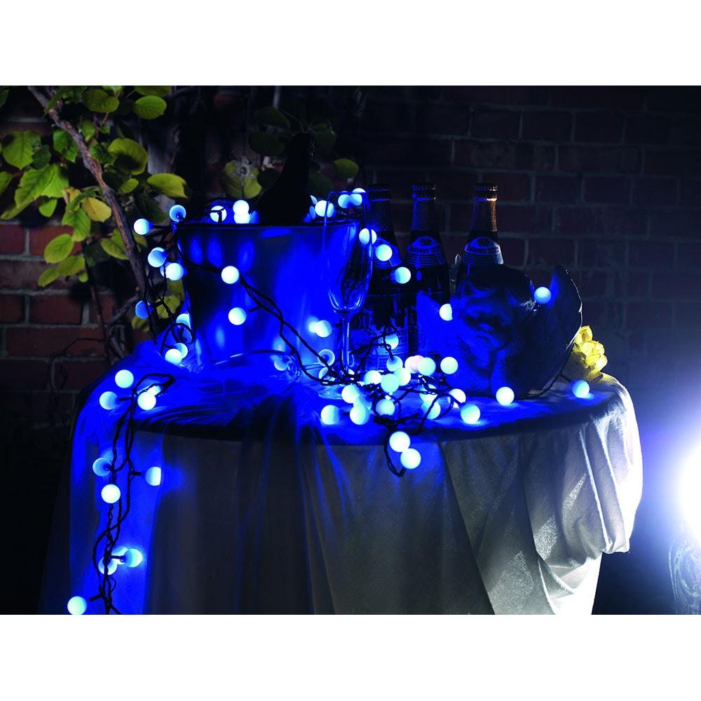 LED Globelichterkette große runde Dioden mit RGB Farbwechsel 80 RGB Dioden IP44 10