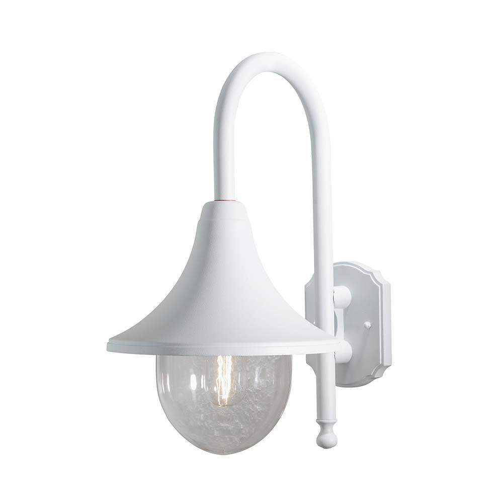 Bari Aussen-Wandleuchte Weiß, klares Acrylglas