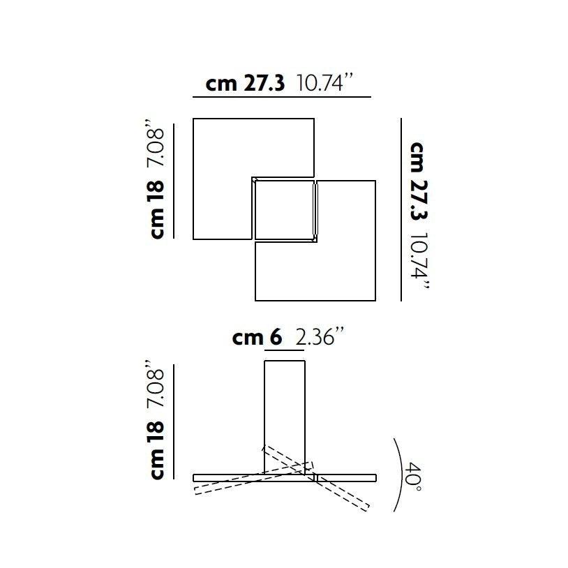 Studio Italia Design Puzzle Twist LED Deckenlampe thumbnail 3