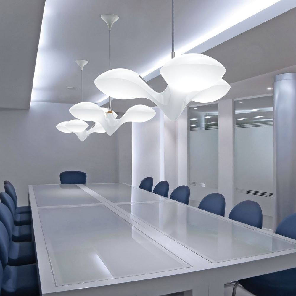 LED Pendelleuchte Enterprise 3-flammig Kupfer, Holz, Weiß 3