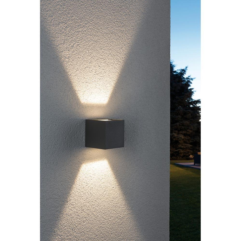 Wandaufbauleuchte LED Cybo eckig 2x3W grau 80x80mm 1