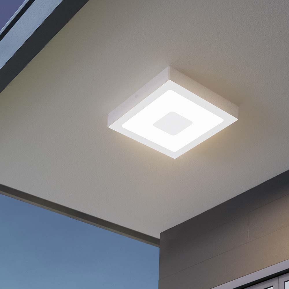 LED Aussen-Deckenlampe Iphias 22, 5x 22,5cm Weiß 1