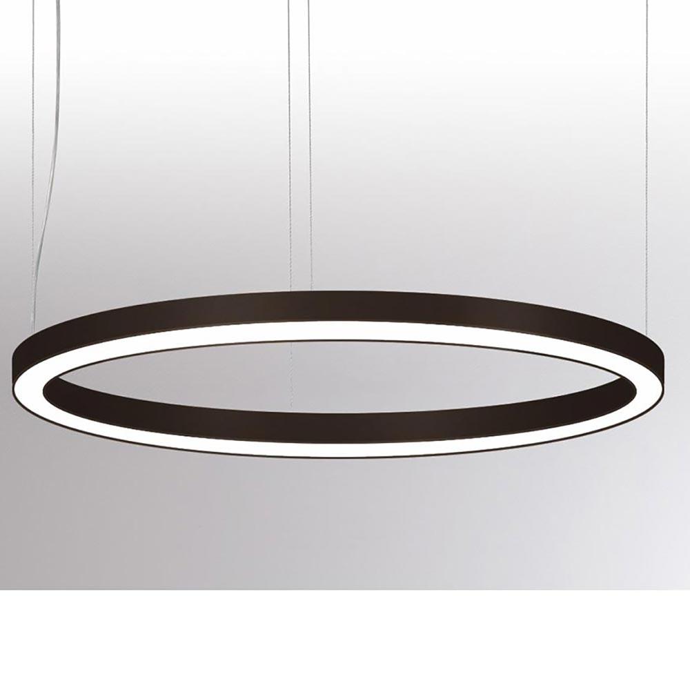 Molto Luce Rinq LED Ring-Hängelampe Ø 900cm Schwarz DALI dimmbar