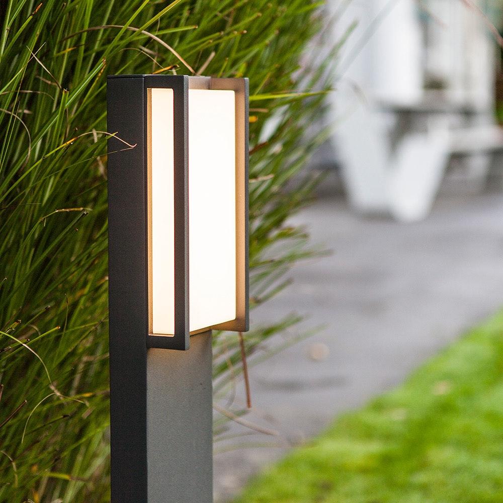 LED Wegeleuchte Qubo IP54 75cm Anthrazit 3