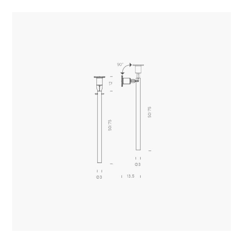 Nemo Canna Nuda Glas Wand- & Deckenlampe silber 3