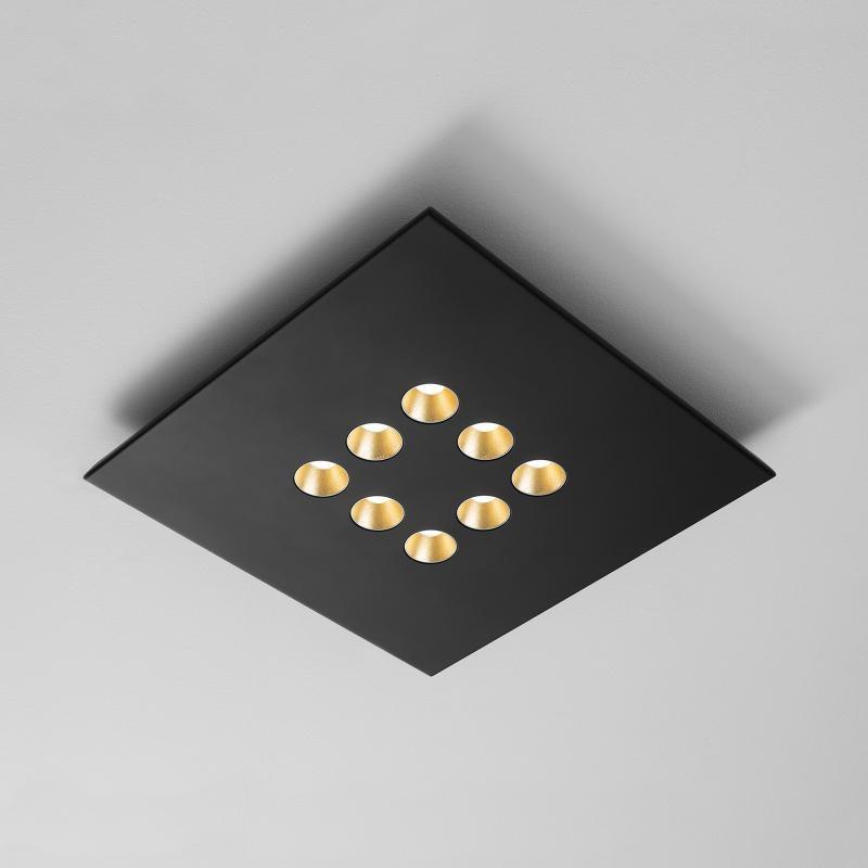 Icone LED Deckenleuchte Confort 8Q Schwarz