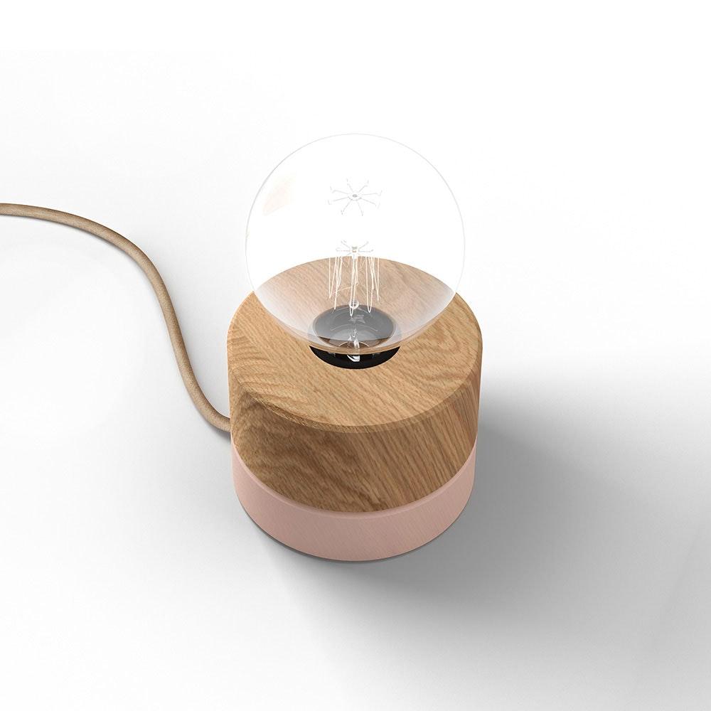 Holz Tischlampe Ø11cm in 3 Holzarten 1