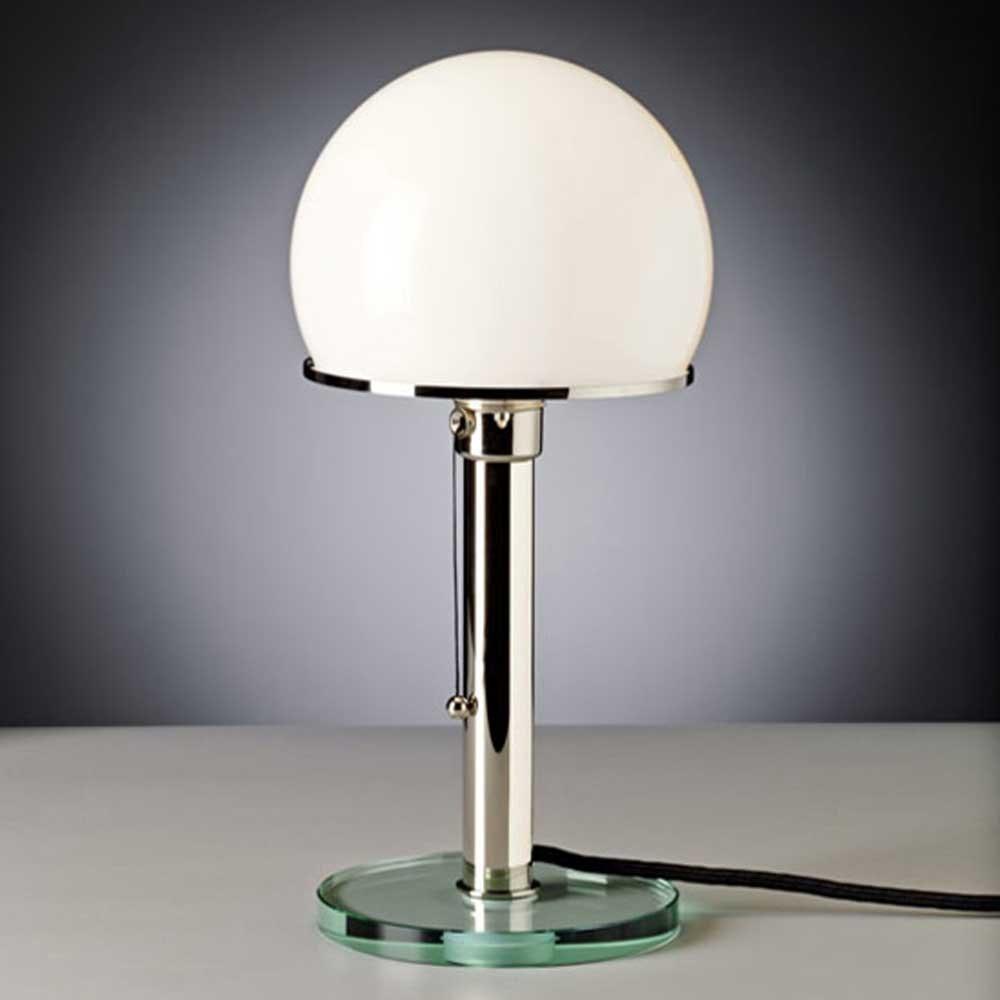 Tecnolumen Bauhaus-Tischlampe WG25GL Wilhelm Wagenfeld Metall 1