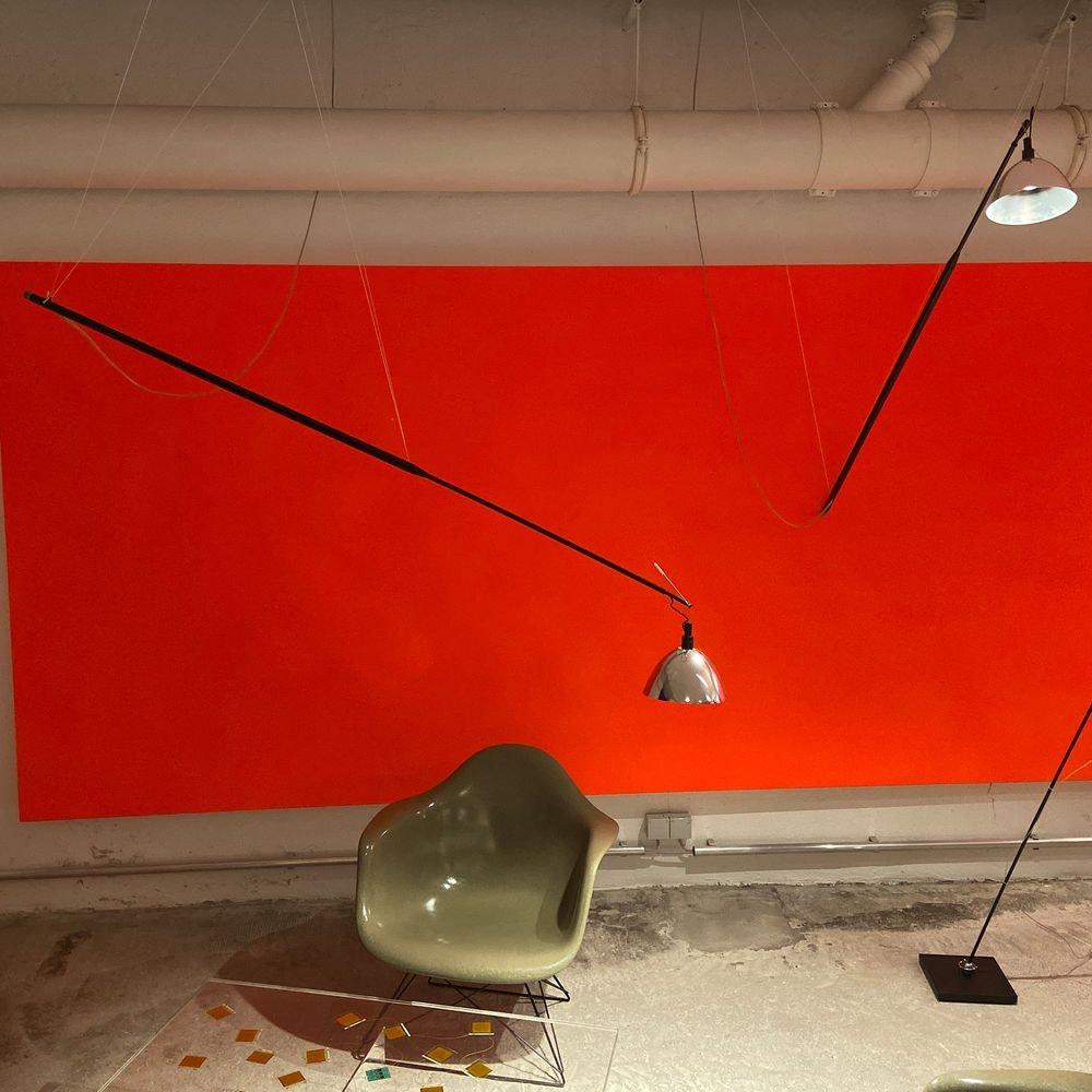 Ingo Maurer Wandlampe oder Hängelampe Max. Mover LED max 210cm