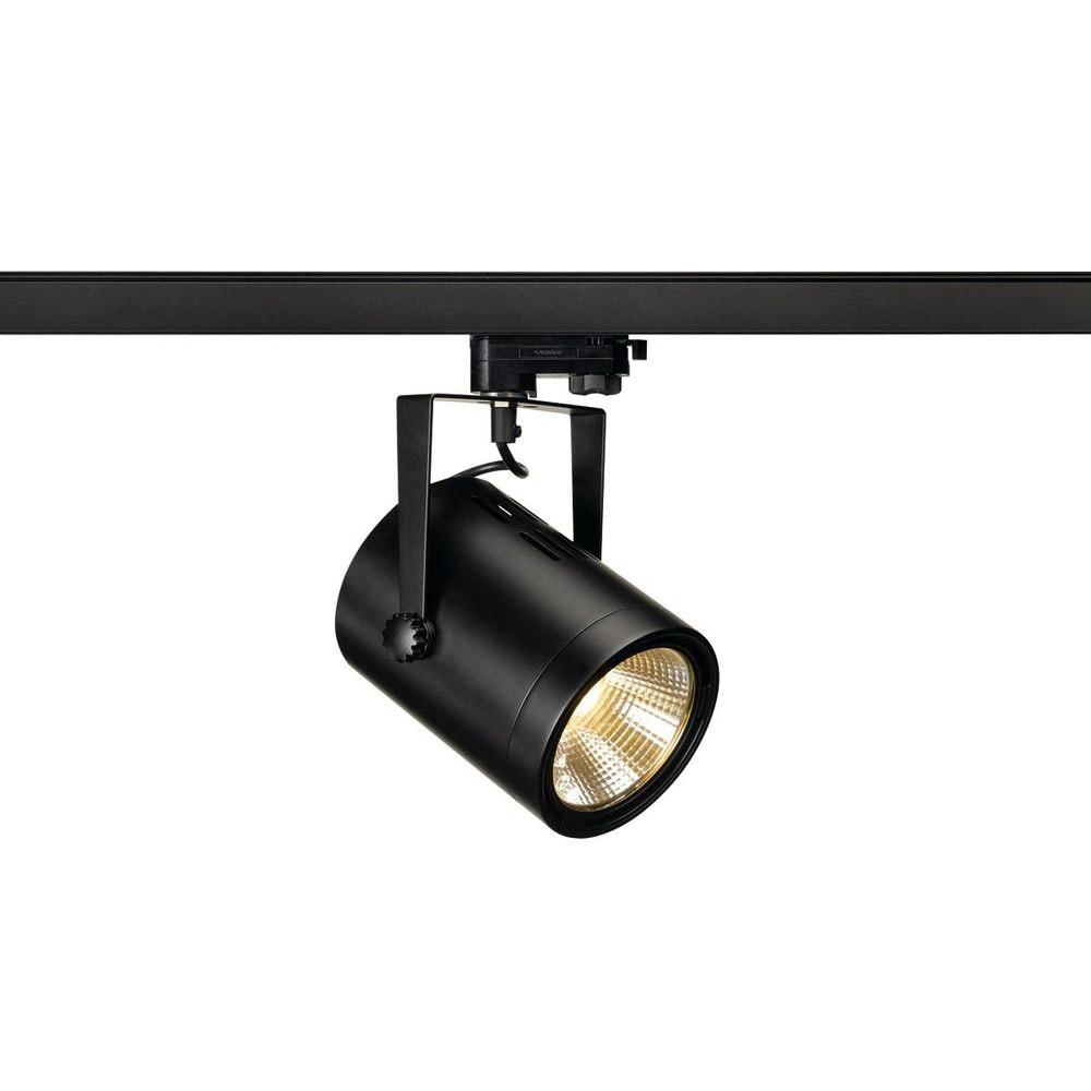SLV Euro Spot LED COB LED Schwarz 3000K 36° inkl. 3P.-Adapter 1