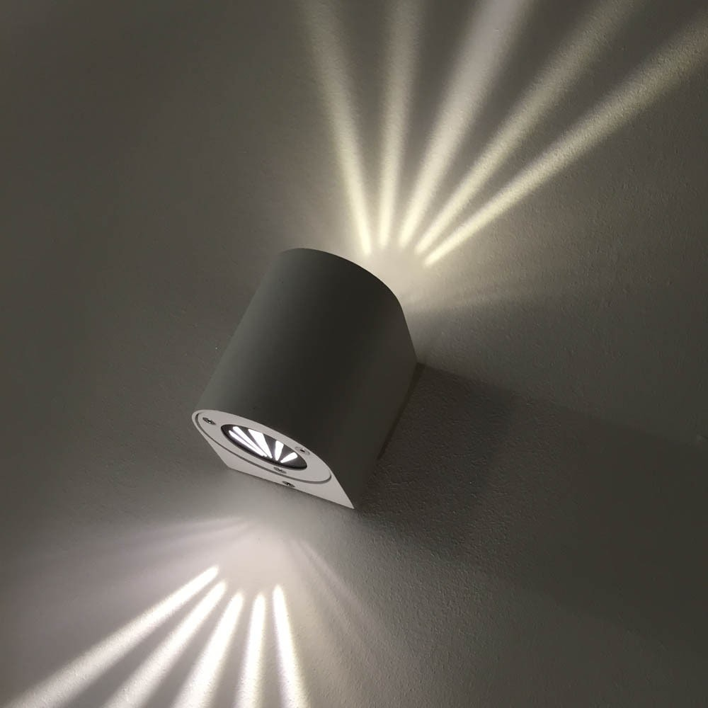 Baleno LED-Wandleuchte IP44 mit Lichtfilter Schwarz thumbnail 4