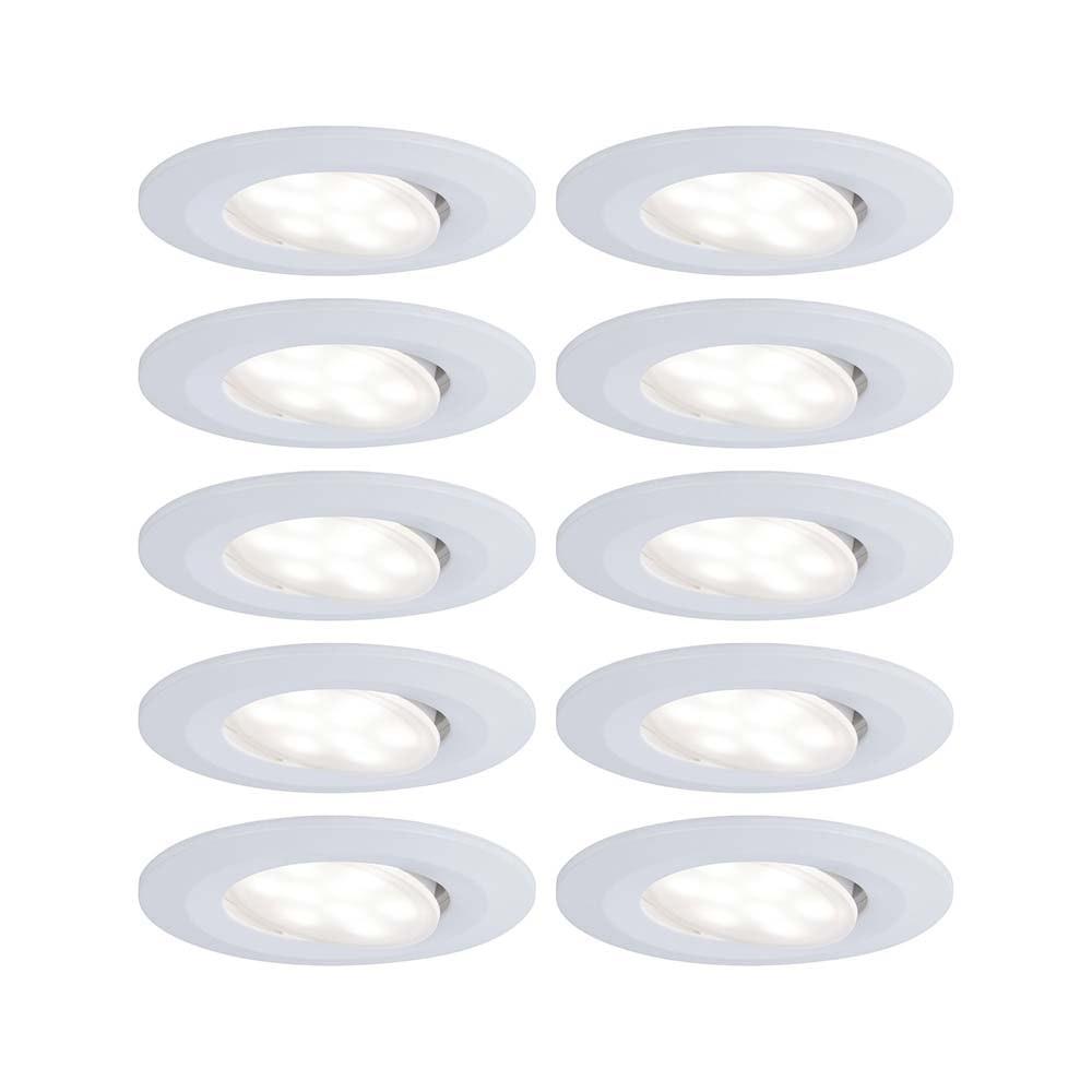 10er-Set LED Einbauleuchten Calla IP65 schwenkbar 4000K Weiß