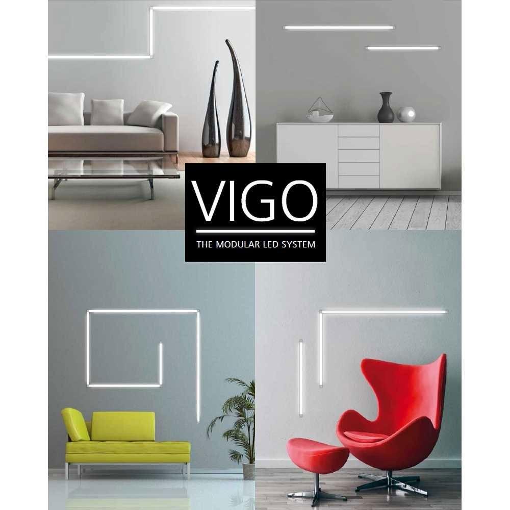 VIGO System 1er Strahlermodul und Endstück Alu-matt 4