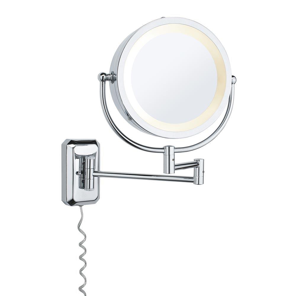 Wandleuchte Bela Kosmetikspiegel Chrom Spiegel Glas