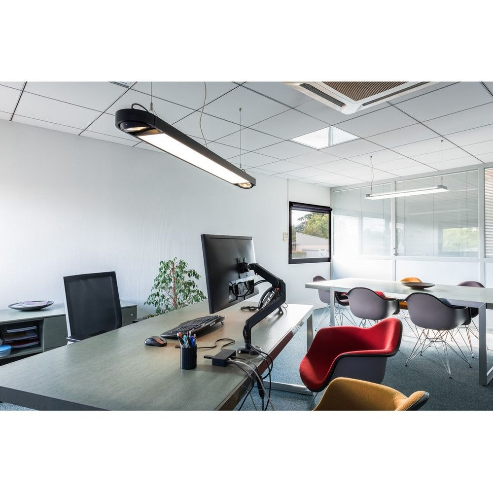 SLV Aixlight R2 Office Long Pendelleuchte 153cm Schwarz LED + 2xES111 3