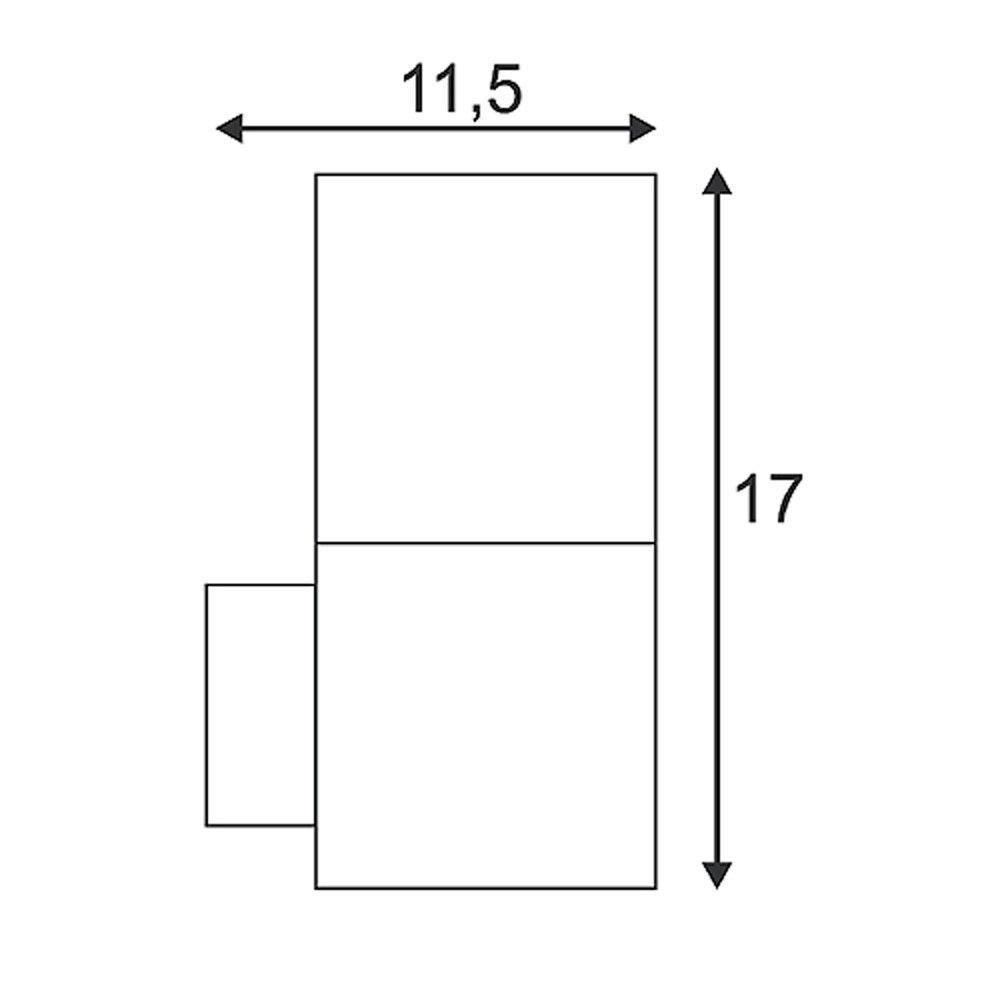 SLV GRAFIT Wandleuchte WL anthrazit weiss E27 ESL max. 11W IP44 2