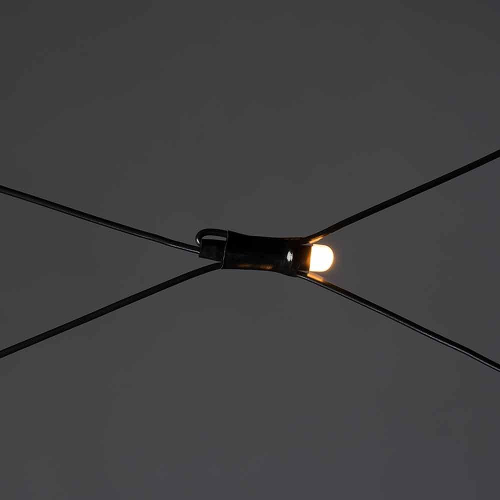 Micro LED Lichternetz IP44 Schwarz 4