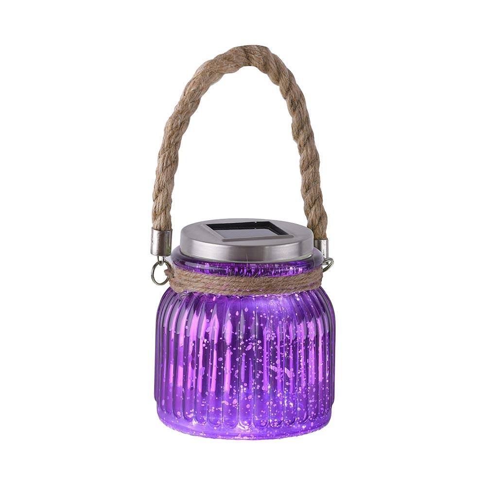 LED Solar Sonnenlichtglas Purpur-Violett 1