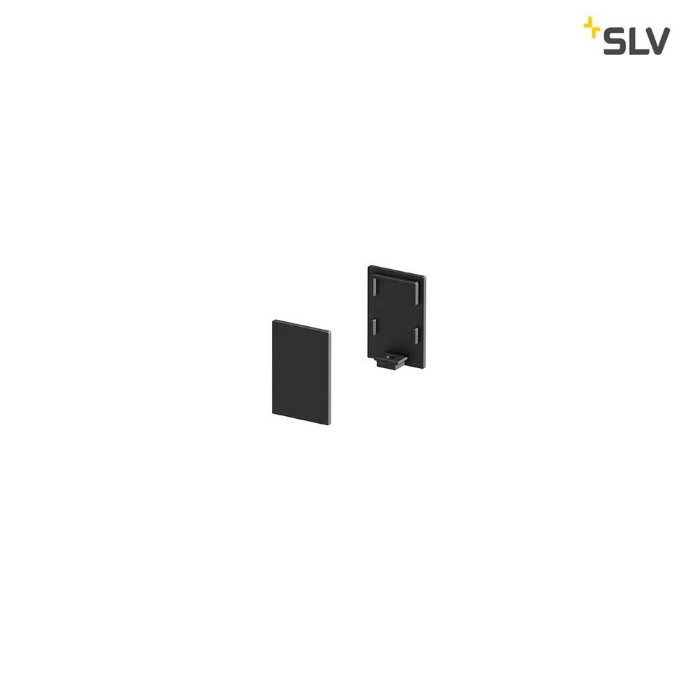 SLV Grazia 10 Endkappe für Grazia Aufbauprofil Standard 2 Stk. hohe Ausführung Schwarz