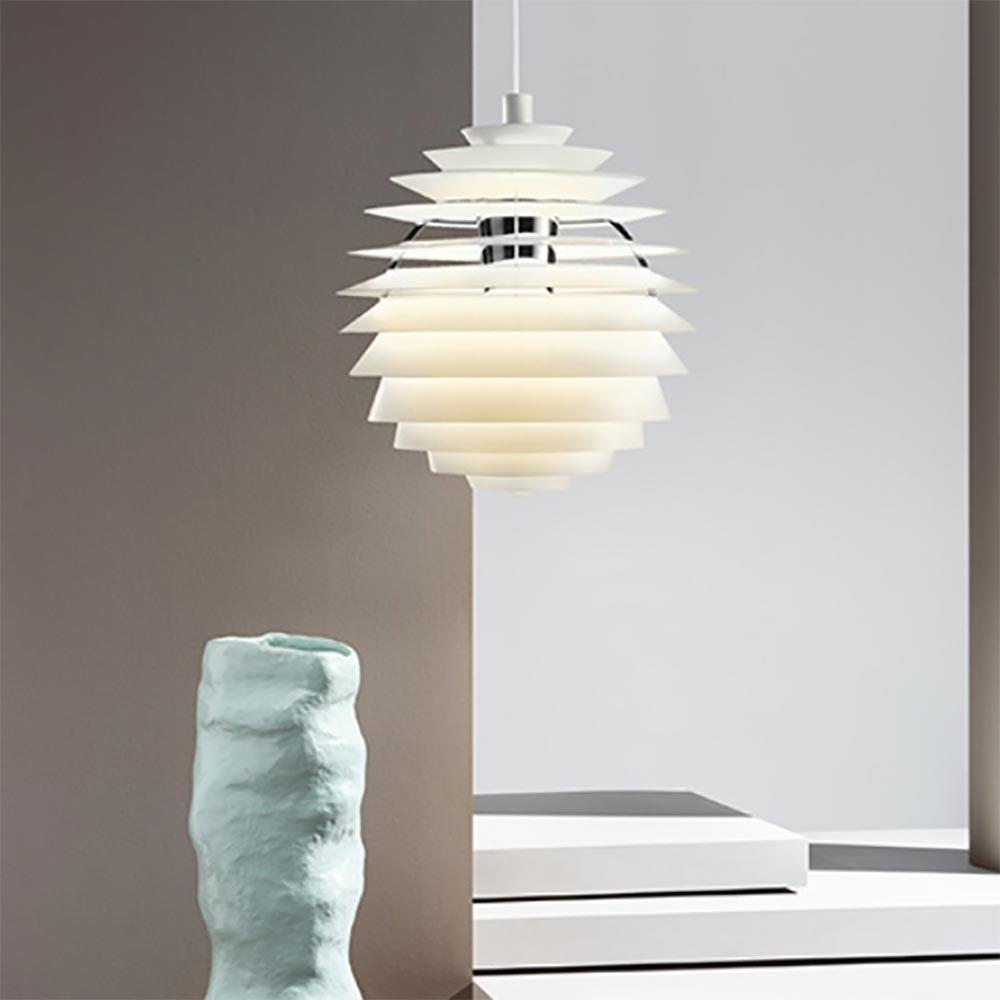 Louis Poulsen LED Pendelleuchte PH Louvre Weiß 1