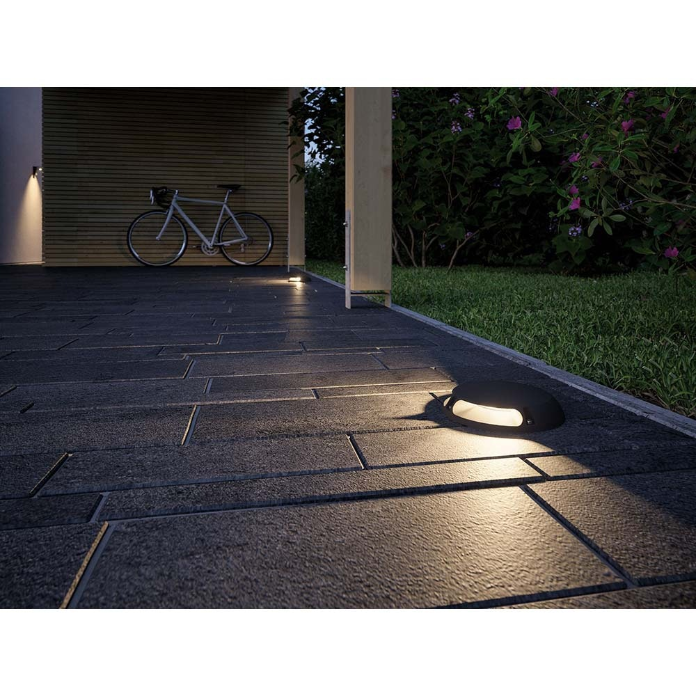 LED Plug & Shine Aufbauleuchte IP67 24V 2x350lm 3000K Anthrazit 3