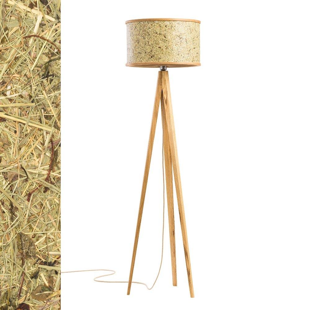 Holz Stehlampe 163cm mit Heuschirm 2