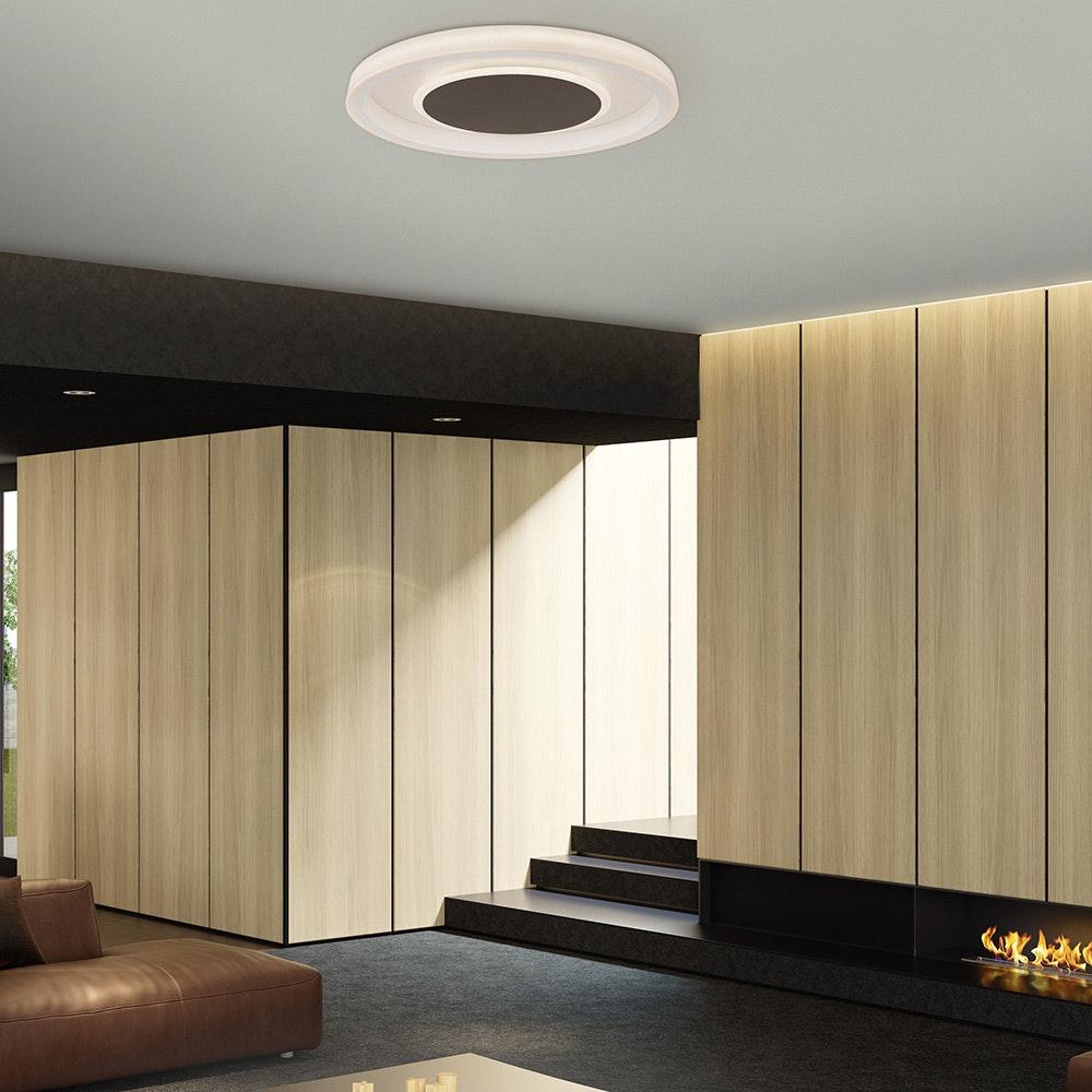 Mantra Moca LED-Deckenleuchte Weiß, Mokka 3